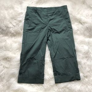 THEORY GREEN CROPPED PANTS